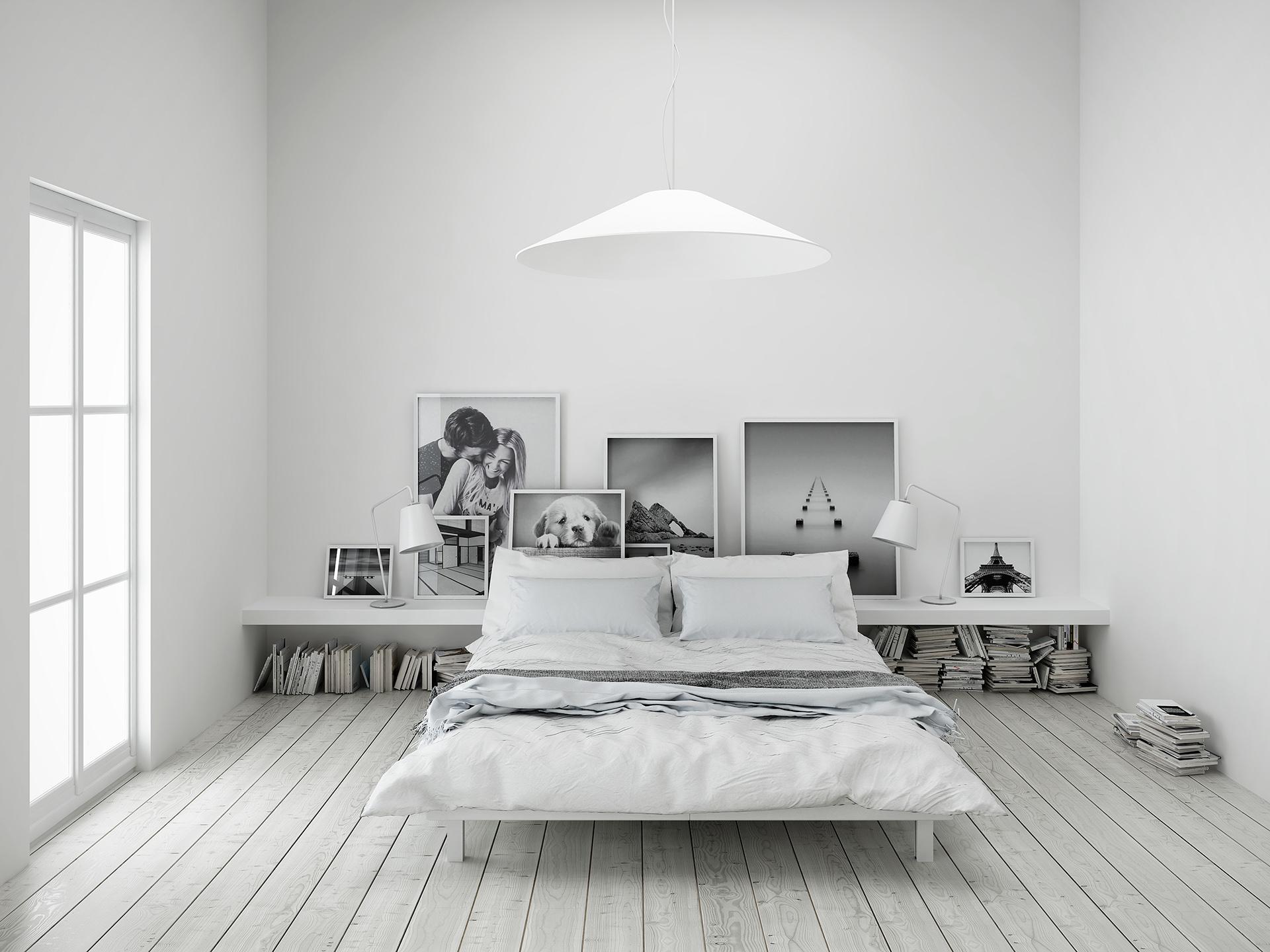 3d e render fotorealistico della camera da letto soggiorno di Marco e Angela progettata da Francesco Aureli a Perugia
