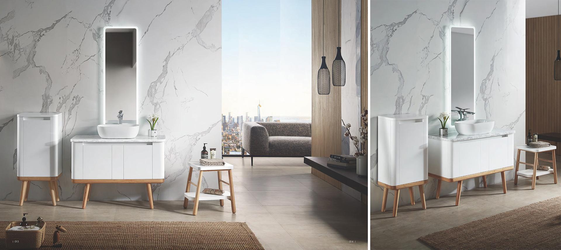 allestimento fotografico di una linea bagno disegnata da Francesco Aureli in Cina