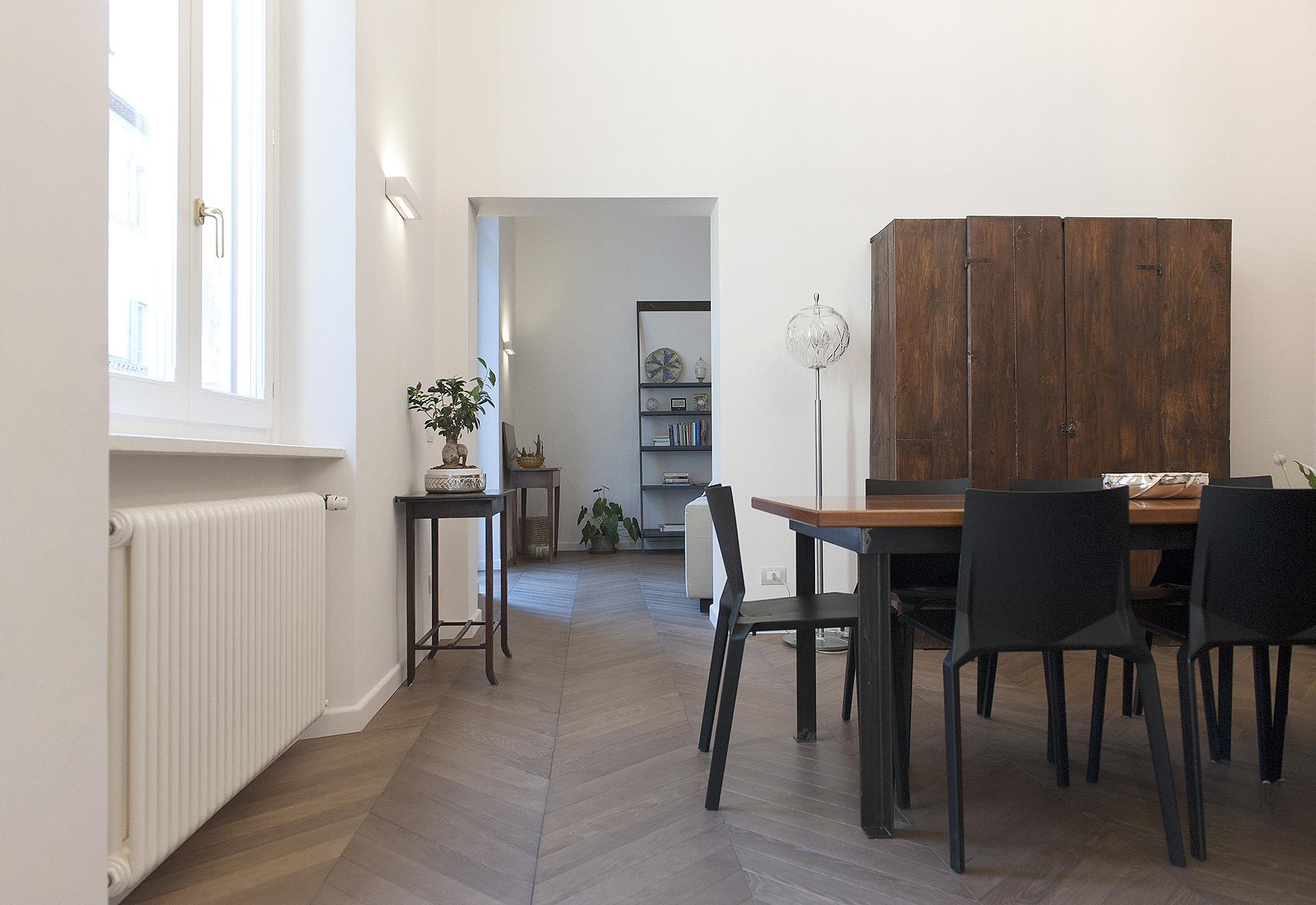 progetto di Francesco Aureli per una casa in centro storico a Perugia